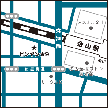ビンヤン地図